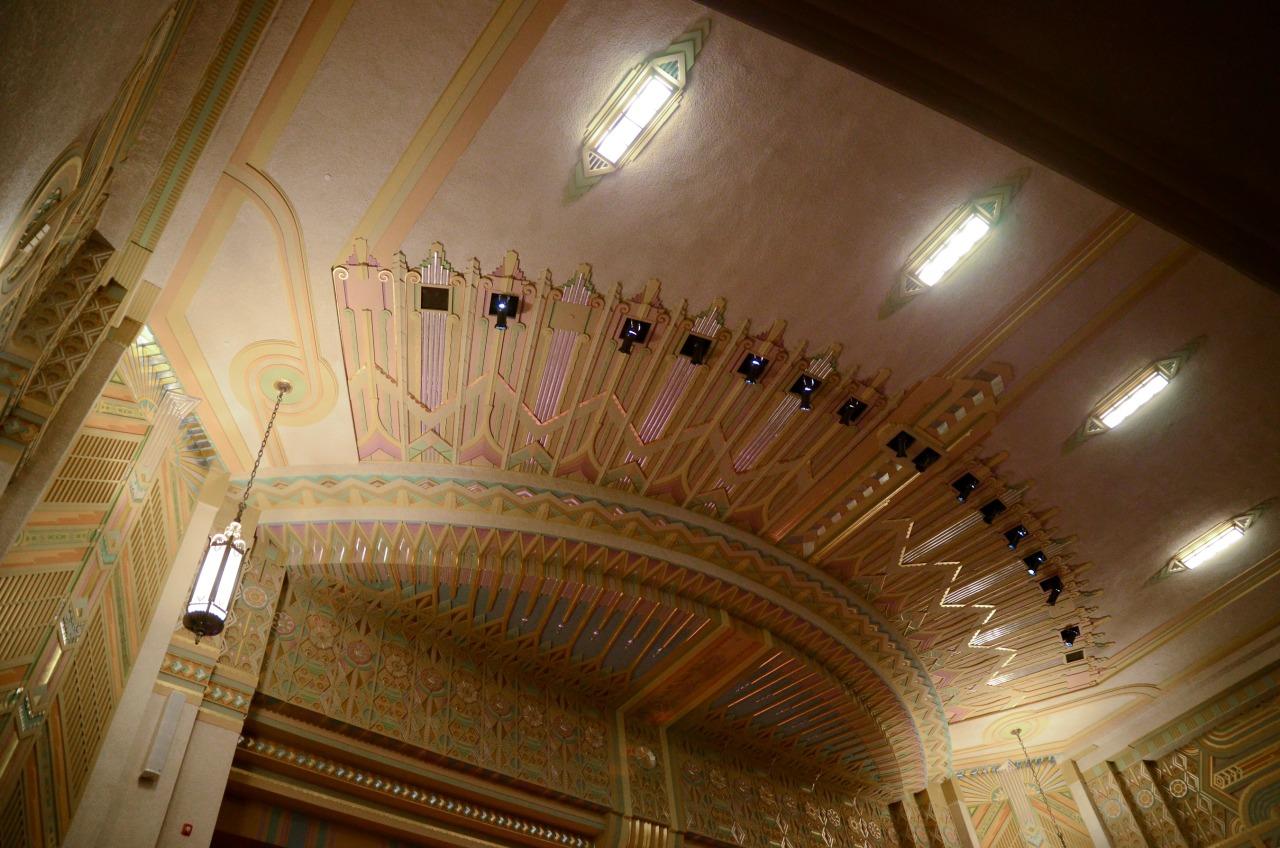 Ogden High School's auditorium.   My high school is prettier than your high school.