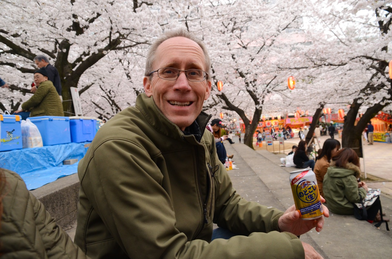 It's no hanami without some Kirin beer