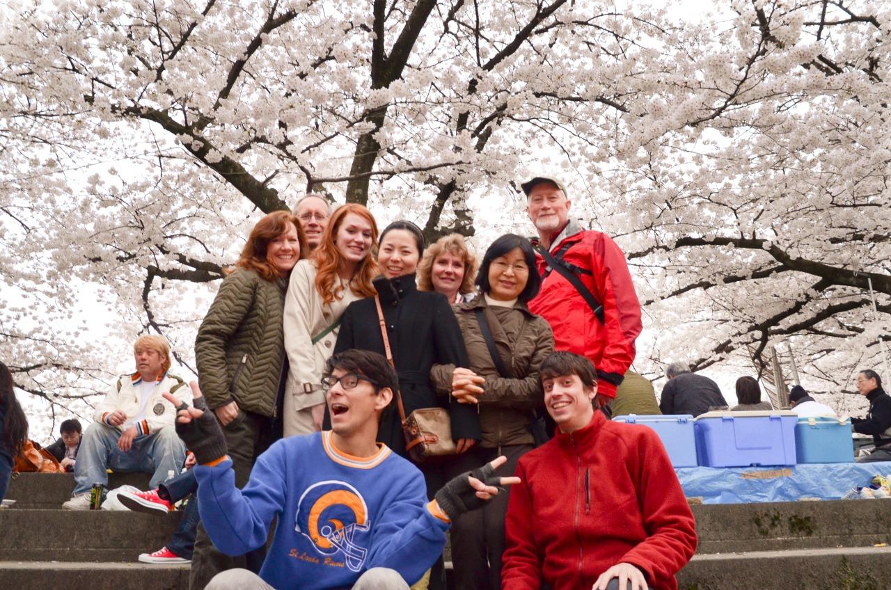 A family reunion hanami