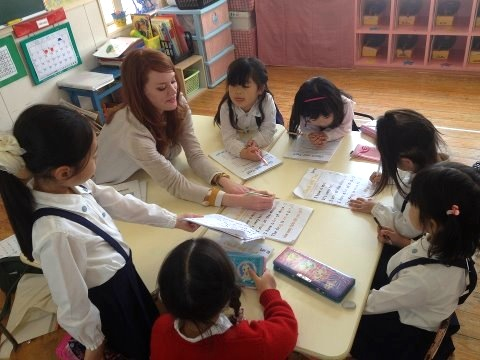 One of my students' mothers sent me this photo from our parent observation lesson. I love this class!
