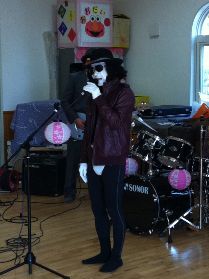 Sometimes Michael Jackson impersonators come to I School. He lip synced an out of this world performance of 'Beat It.'