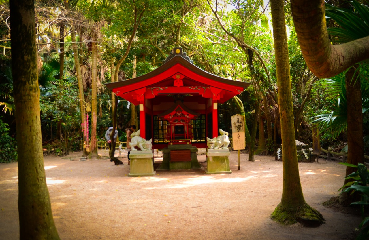 The inner shrine at Aoshima-jinja 青島神社 Miyazaki, Japan      This was so beautiful and unique.