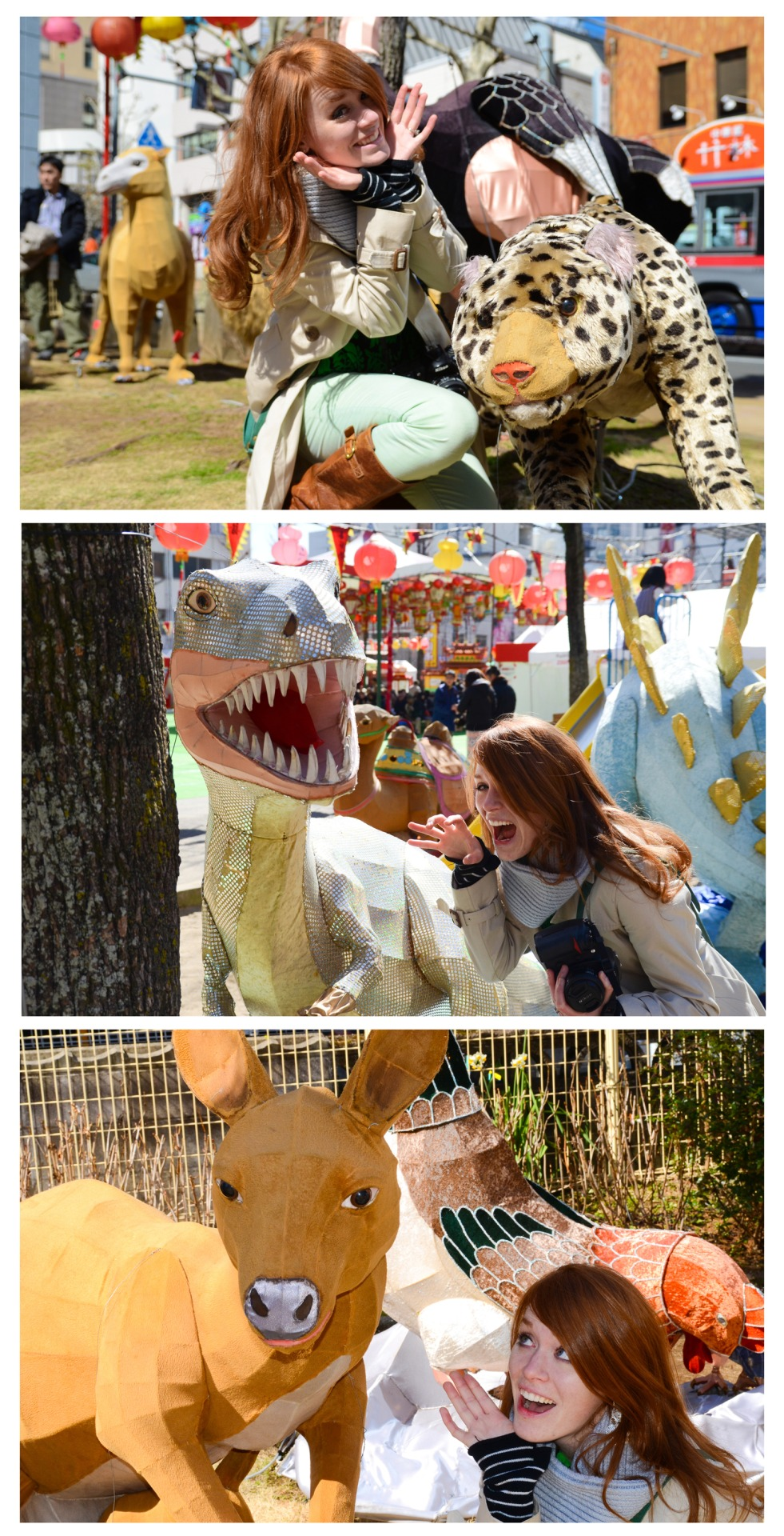 Sam's Favorite part of the Festival were the animal shaped laterns, obviously