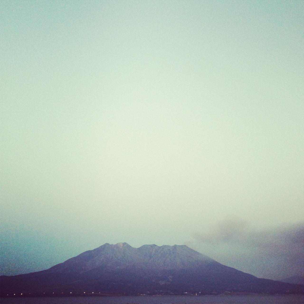 Sakurajima: one of the major active volcanoes in Japan.