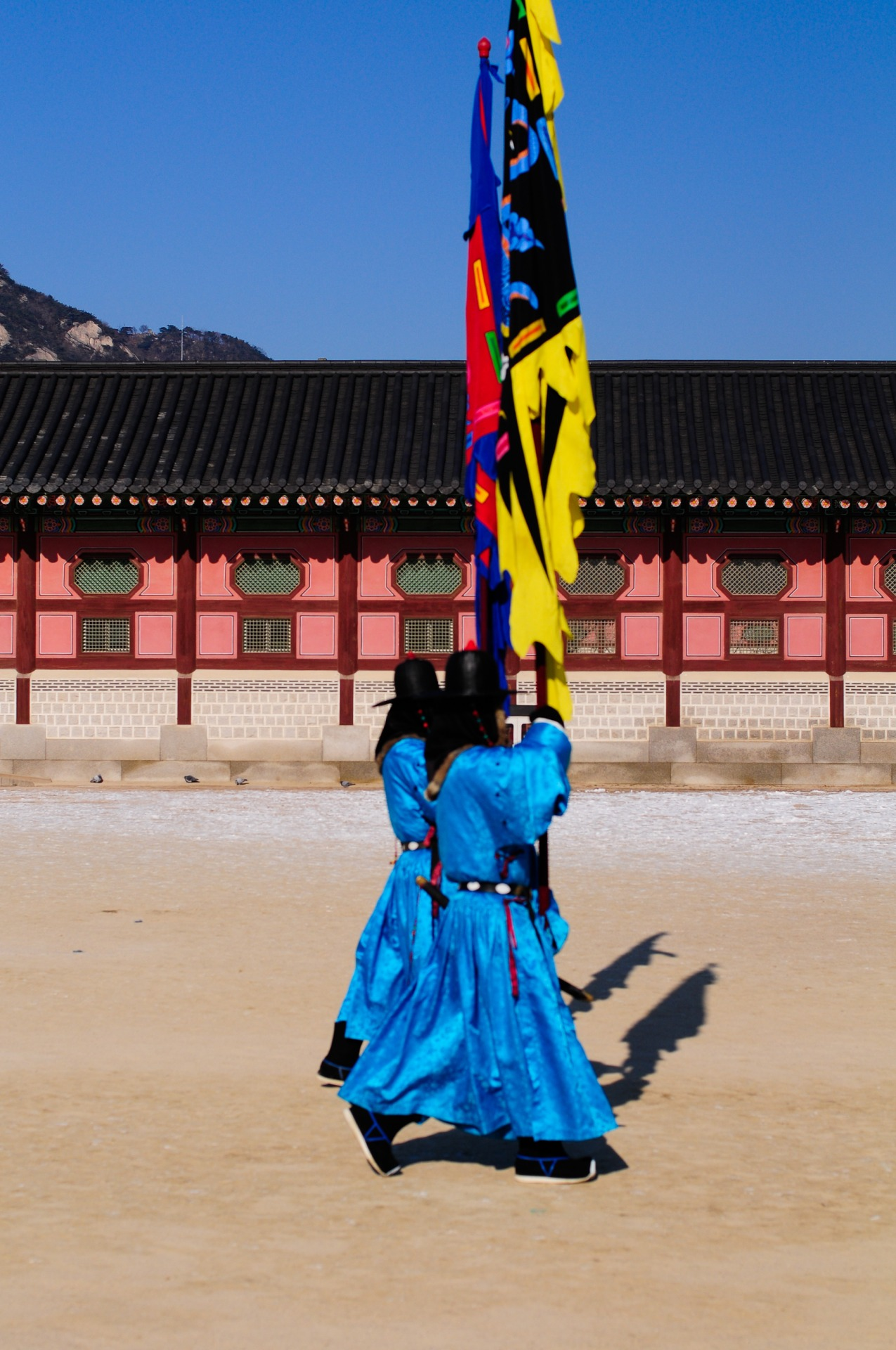 The changing of the Palace guards at Gyeonbokgung