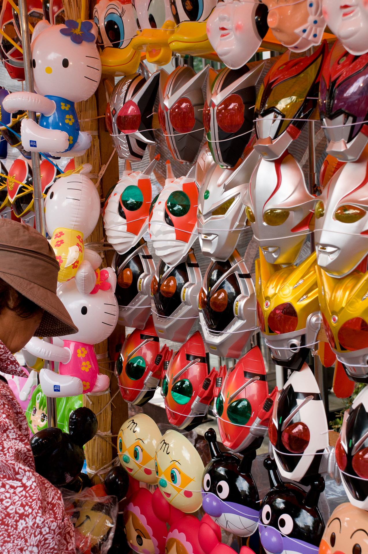 Novelty masks for sale. These booths seem to find themselves at all festivals.
