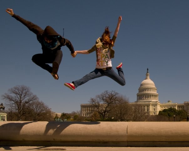 It's our 2 year anniversary today!  And our adventures are not stopping. Here is us in DC on our first adventure 3 years ago.