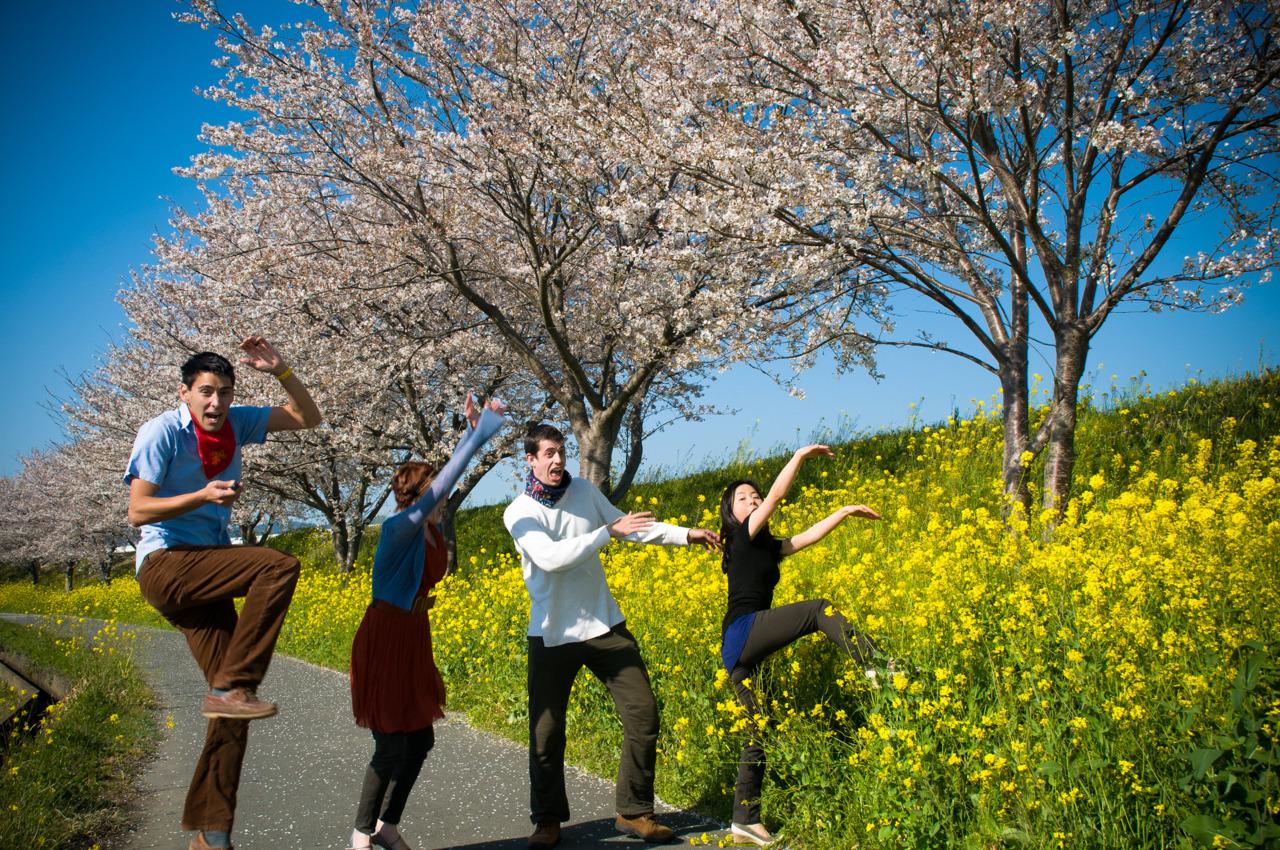 Us enjoying the Cherry Blossom season.