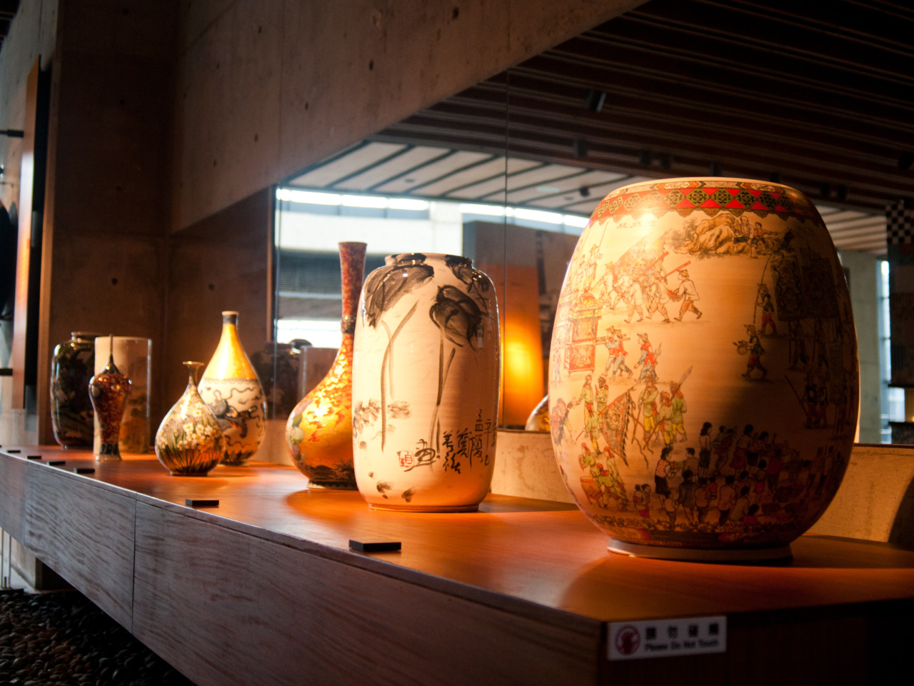 Taiwan is famous for its ceramics.