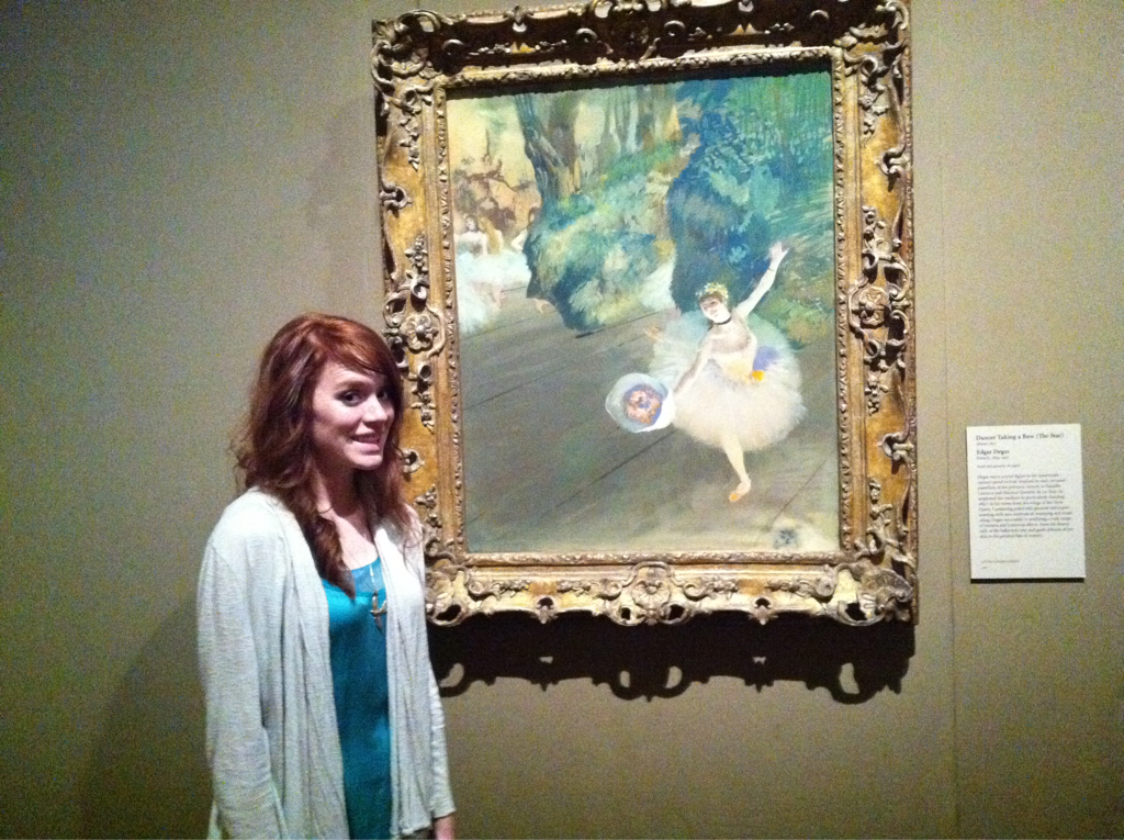 Sam with one of her favorites.