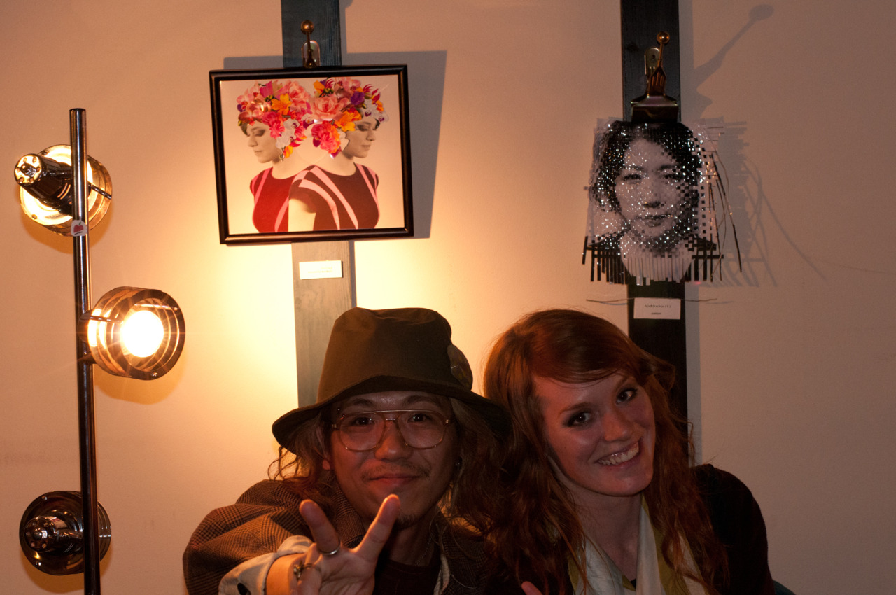 Samantha with Atsushi (the coordinator of the art show)