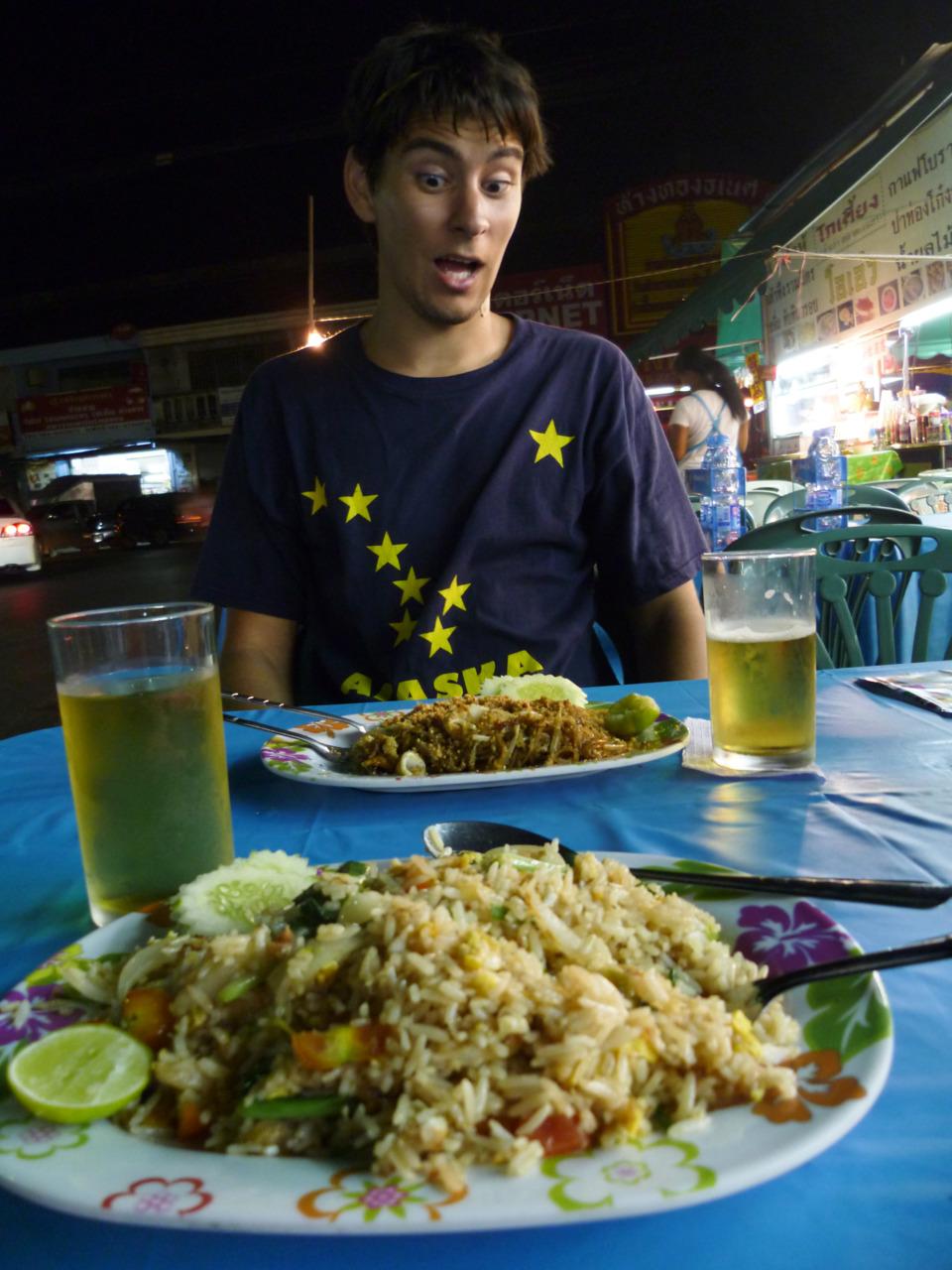 Cheap street vendor meal = Pad Thai = $2