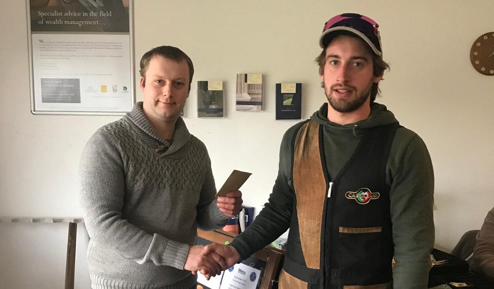 Class Winner J Bonnett - 93 - receives his award