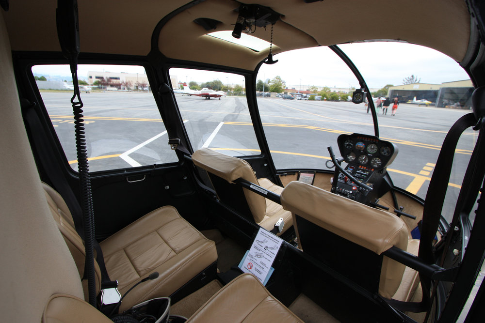 R44 Helicopter Interior