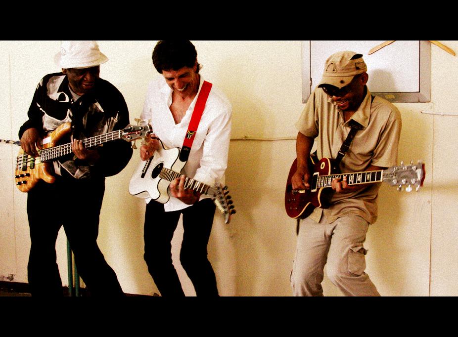 """""""Jozi"""" video L to R: Glen Mafoko, Mthakathi, Menyatso Mathole"""