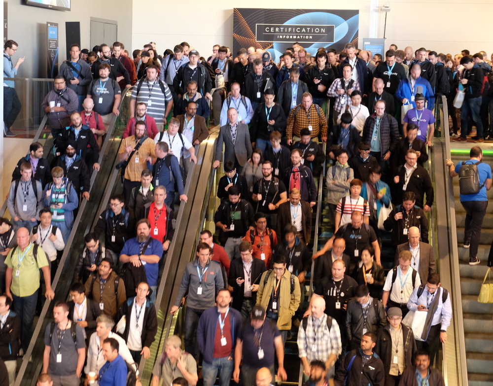 32,000 cloud enthusiasts packed the 2016 AWS re:Invent conference