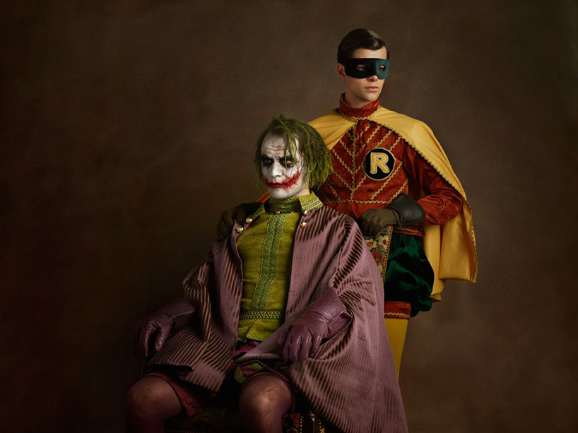 The Joker & Robin pose like best mates
