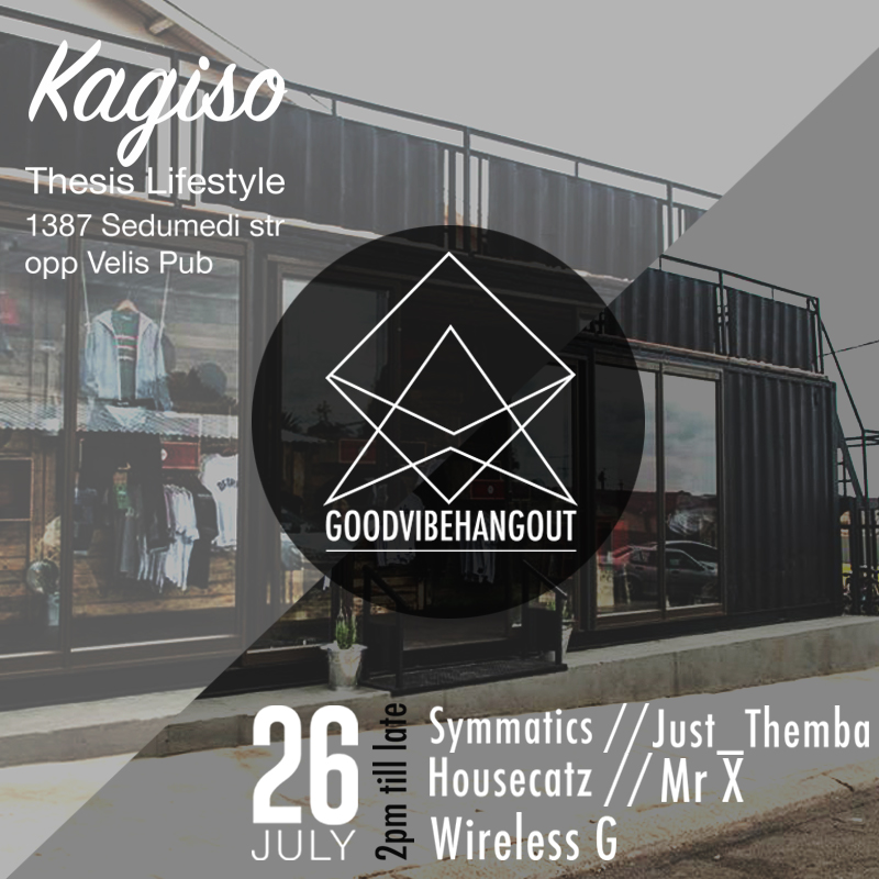 "Many would remember the ""Thesis Social Jam Sessions"" we hosted at our Mofolo store. And it has been 3 years since our last one. Today we bring you something along the lines of the Social Jam Sessions but just a little different.   It is time for our KAGISO store to shine too. So this Sunday is the first of many goodvibehangout's"