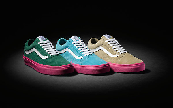 "This fall, VANS Syndicate joins forces with Odd Future's Tyler the Creator to give the classic old skool silhouette a Pro ""S"" treatment with Ultracush impact sockliners and and Duracap reinforced uppers in three bold suede and vivid pink colour ways.   This project marks the second Odd Future coloabo in the Syndicate line."