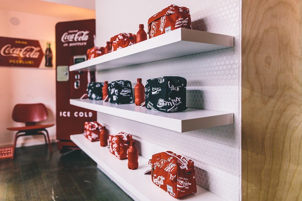 Ahead of time for Spring 2016, Herschel Supply and CocaCola have recently launched a special pop-up shop to go along with a small collection of bags