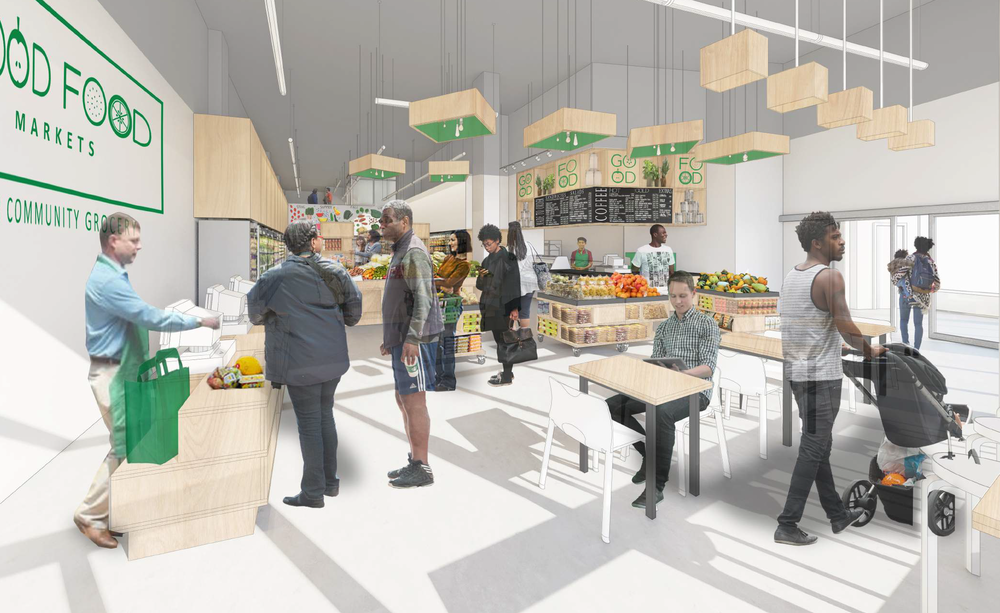 Interior of the S. Capitol St SW store, in Ward 8 - Washington, DC
