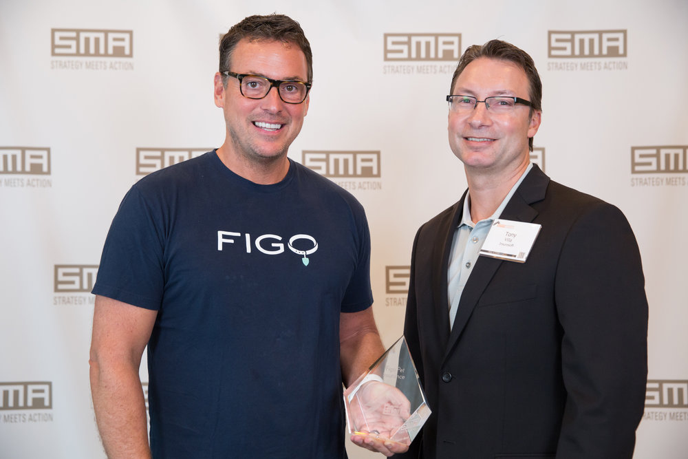 Rusty Sproat, Founder and CEO of Figo, and Tony Villa, CEO of Insuresoft.