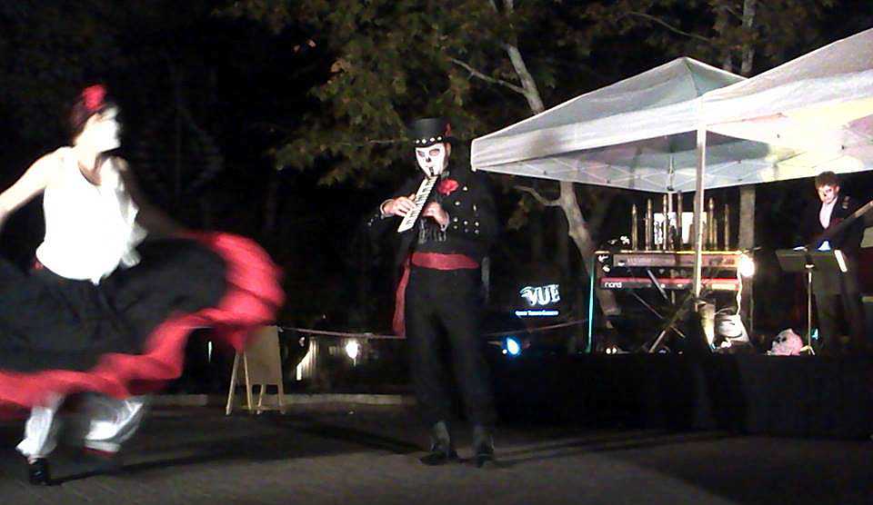 Day of The Dead celebration, Sedona, 2014. DiVoM performance. David Vincent Mills, musician. SedonaWonder.com