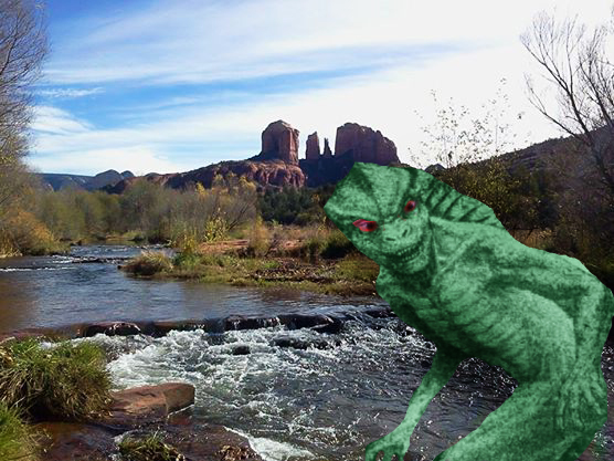 SedonaWonder.com Alien Lizard Man
