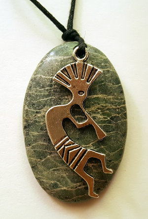Green marble with kokopelli pendant oval sedona pendants sedona green marble with kokopelli pendant oval aloadofball Choice Image