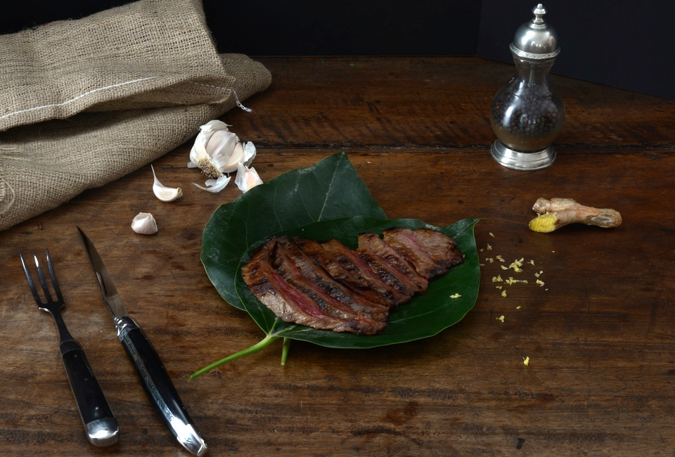 Asian Grilled Steak with Honey, Soy, Garlic & Ginger