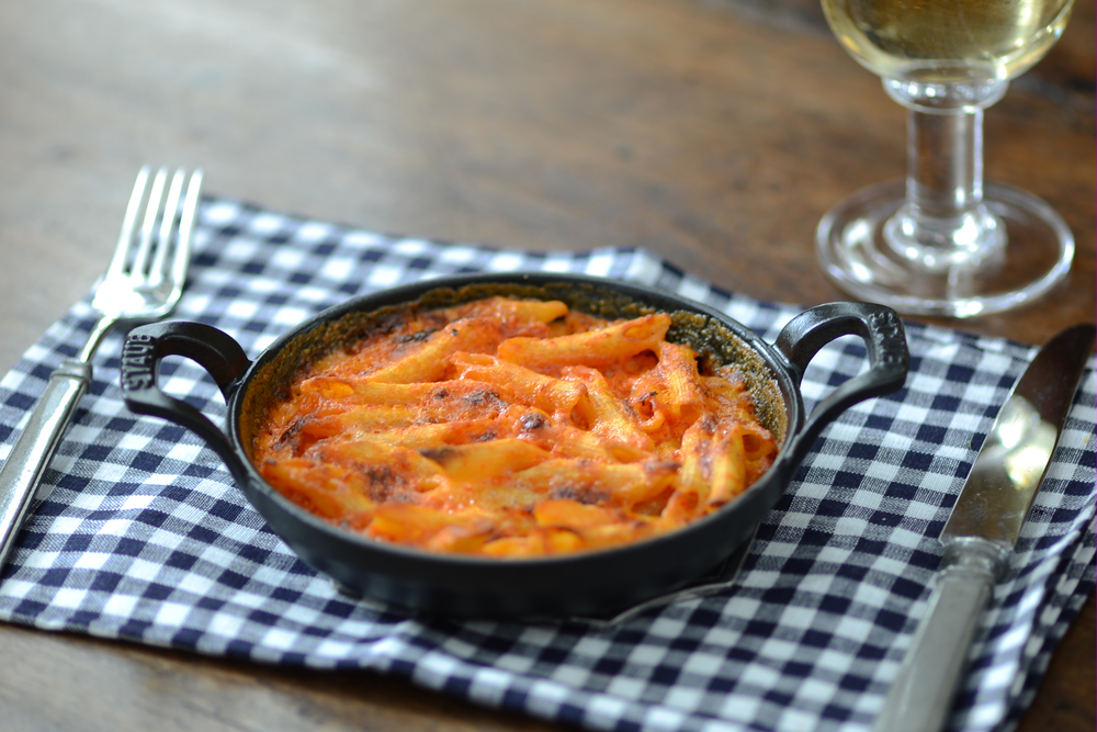 Al Forno's Pasta in the Pink with Red Pepper Puree