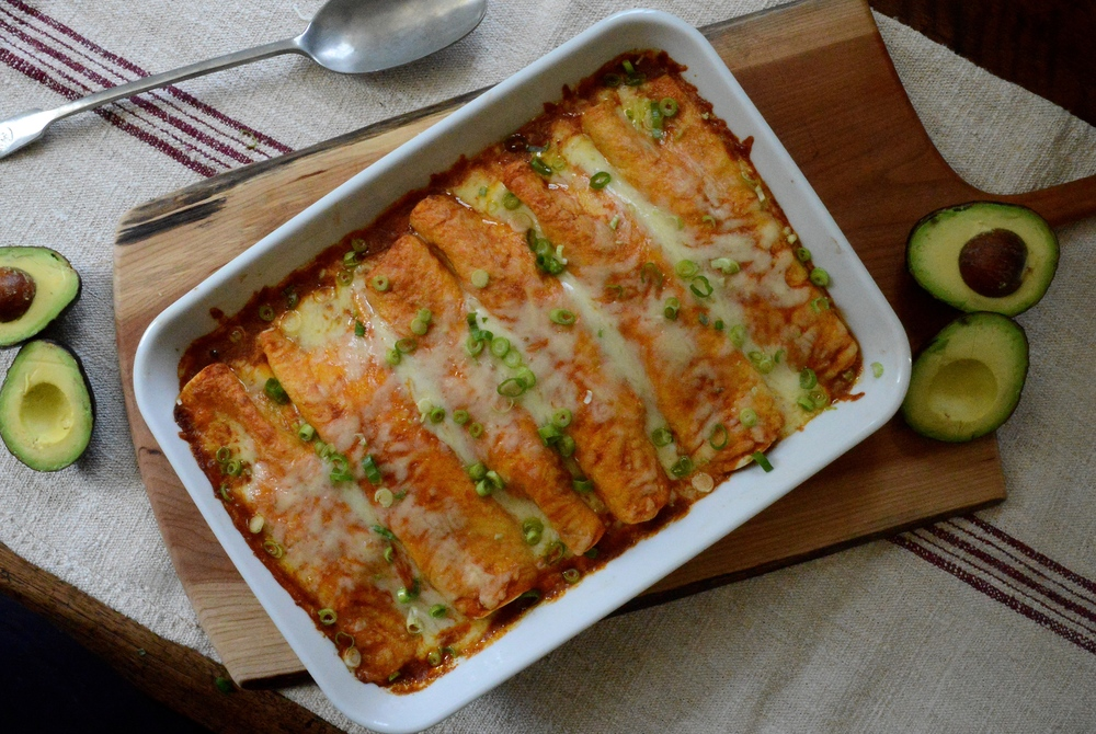 Weeknight Red Enchiladas