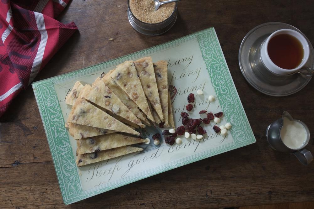 Millionaire's Cranberry & White Chocolate Shortbread