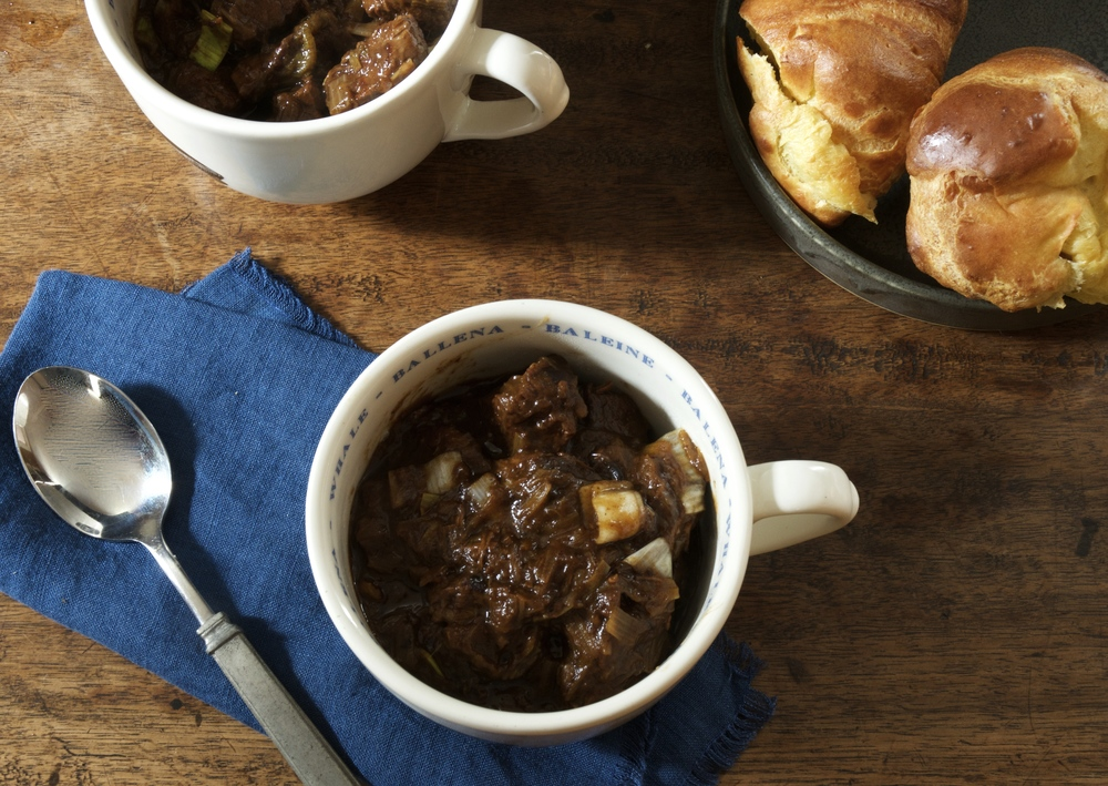 Potager Beef & Leek Stew with Popovers