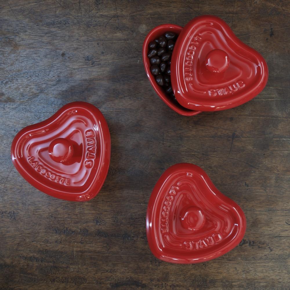 Staub Ceramic Heart Cocotte