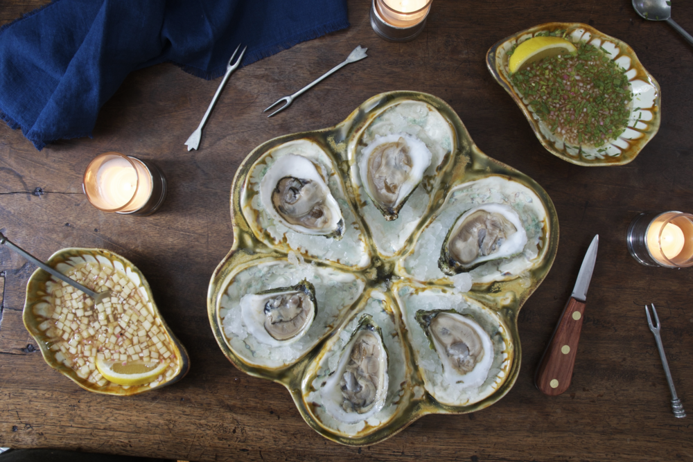Opulent Oysters with Champagne Tarragon Mignonette