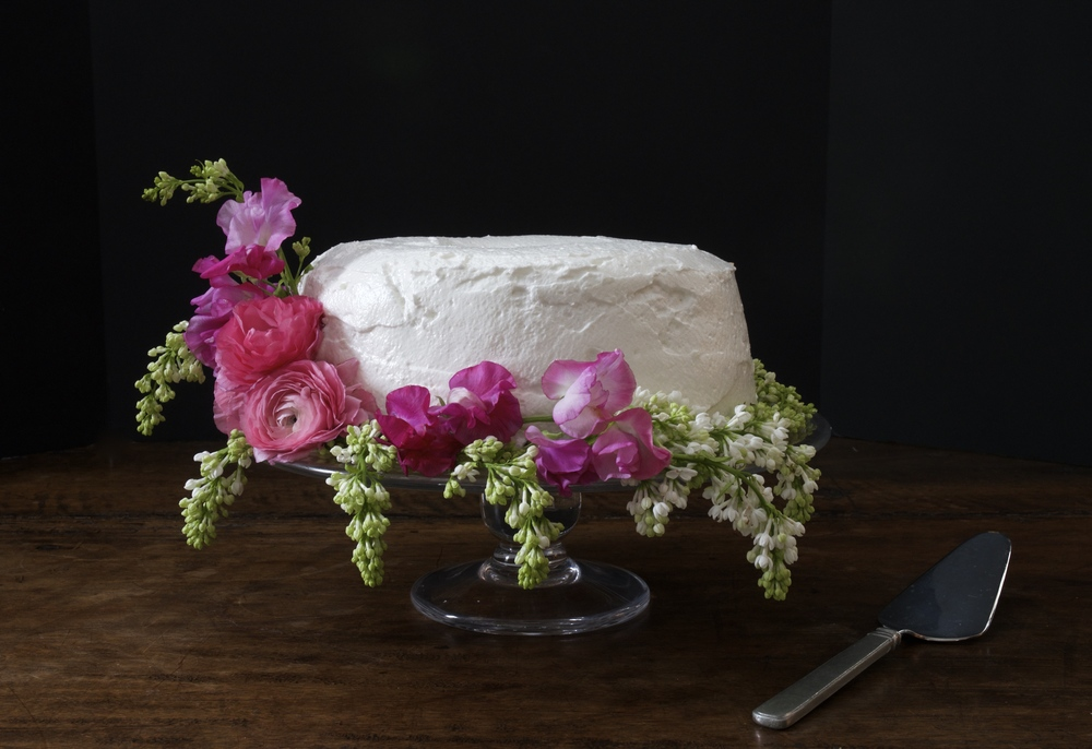 Angel Cake with Meringue Frosting