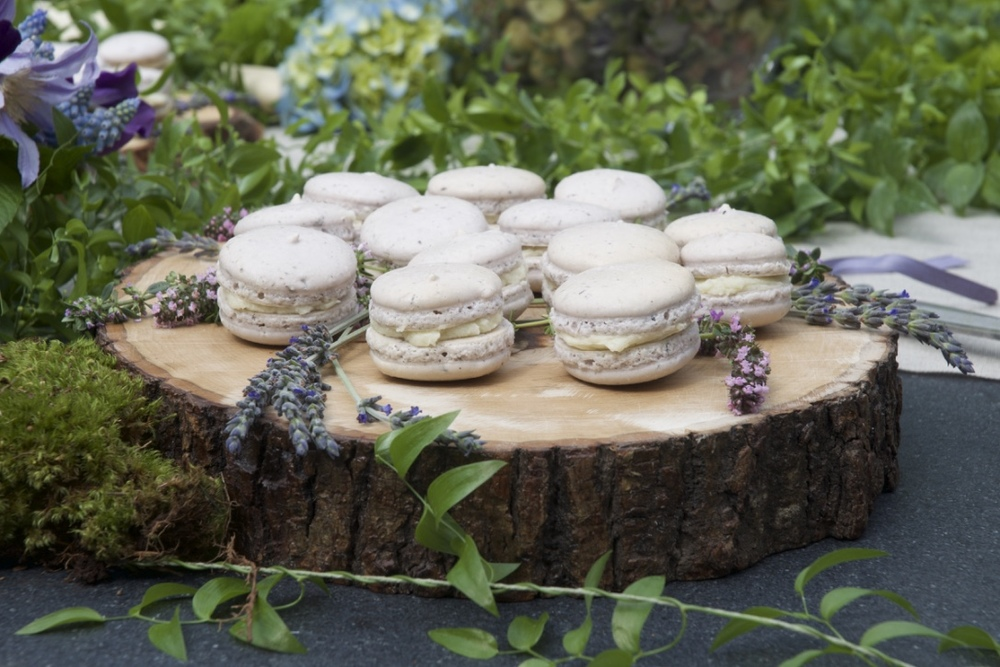 Lavender Macarons with Honeycomb Buttercream