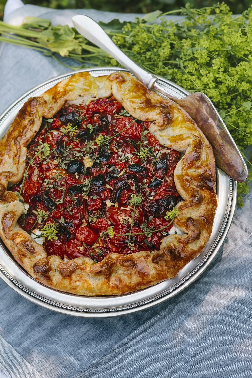 Tomato Galette with Goat Cheese & Garden Herbs