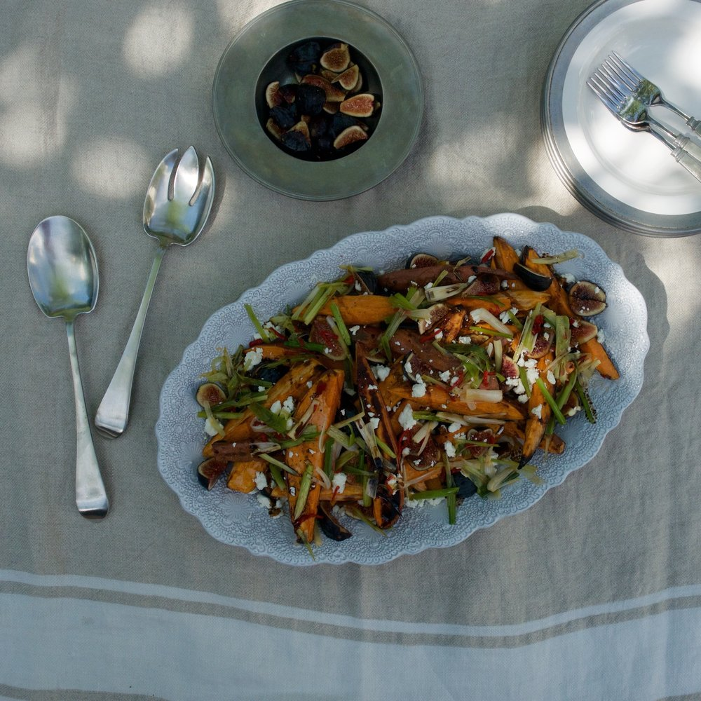 OTTOLENGHI'S ROASTED SWEET POTATOES & FRESH FIGS