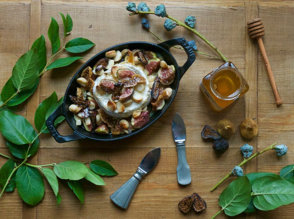 Truffle Honey Brie with Figs & Marcona Almonds