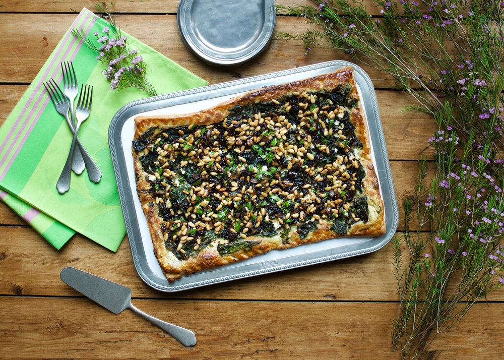 Sunday Suppers at Lucques Swiss Chard Tart