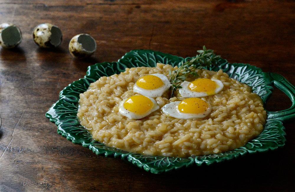 Risotto Alla Parmigiana with Quail Eggs