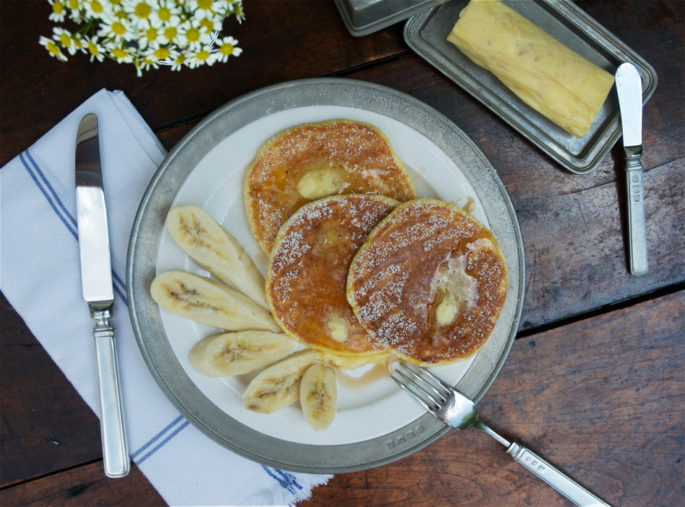 Bill's Ricotta Hotcakes with Honeycomb Butter