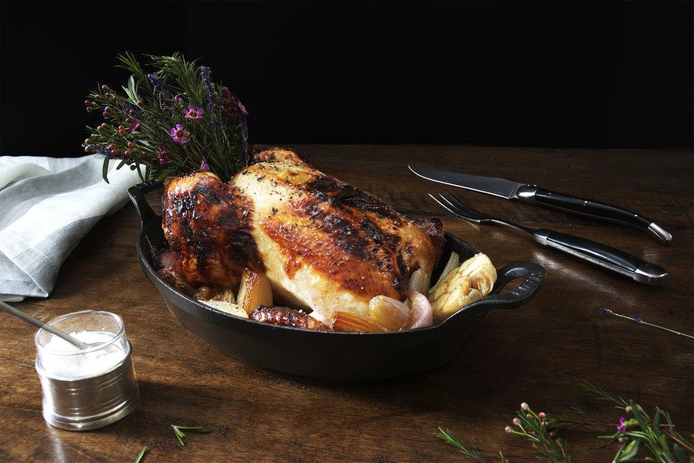 Lavender Honey & Thyme Roasted Chicken