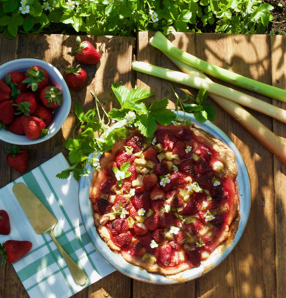 RUSTIC STRAWBERRY RHUBARB GALETTE