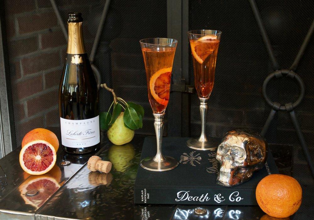Dragon Rider Champagne Cocktail