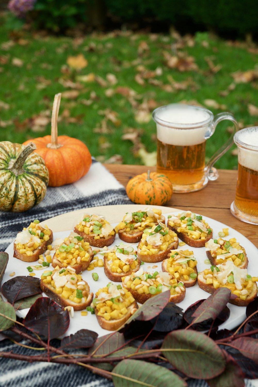 Pumpkin Bruschetta with White Balsamic Vinegar