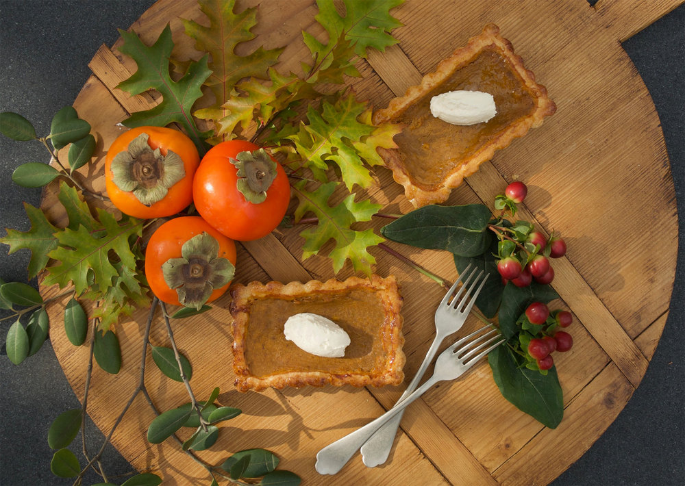 PUMPKIN SPICE TART with MAPLE WHIPPED CREAM