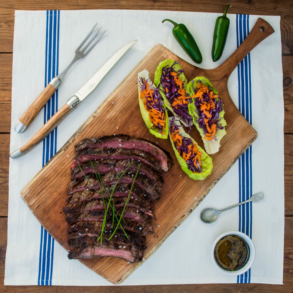 - An intense beefy flavor makes skirt steak the ideal candidate for marinating, but it should only be cooked to medium rare to avoid toughness.
